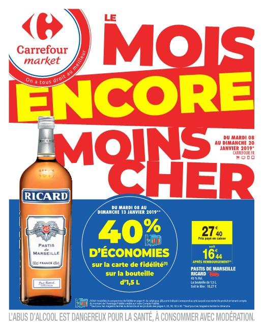 Catalogue Carrefour Market Le Mois Encore 2-13 Janvier 2019