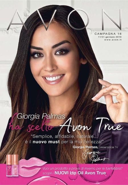 Palmas Giorgia Calendario.Catalogo Avon Campagna 16 2019 Giorgia Palmas Presentatrice Tv