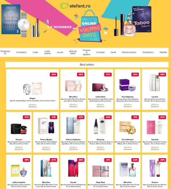 Catalog Elefantro Online Shoppig Days Noiembrie 2018 Catalog Az